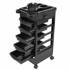 5 Layers Rolling Salon SPA Trolley Storage Cart Beauty Salon Hair Dryer Holder