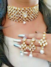 Indian Jewelry Bollywood Necklace Gold Choker New Ethnic Stylish FASHION Set