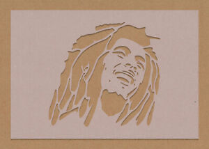 Bob Marley Stencil Celebrity Rock Star Shabby Chic Vintage