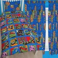 Teenage Mutant Ninja Turtles Team Single Duvet and Matching Curtains Set Bed Set
