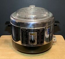 VINTAGE CHROME AUTOMATICALLY ELECTRIC DEEP FRYER SLOW COOKER