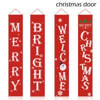 Joyeux Noël Porte Bannière En Plein Air Accueil Suspension Drapeau Décoration