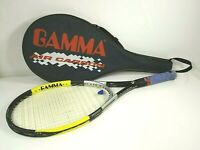 Gamma Air Carbon Power Control 6.0 102 Sq Tennis Racket Racquet 4 3/8  + Case