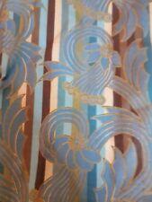 Potpourri Blue stripe modern floral Quilt Fabric 62 x 108cm