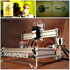 DIY 2000MW Mini Laser Engraving Machine Laser Engraver Cutter Printer 17*20cm