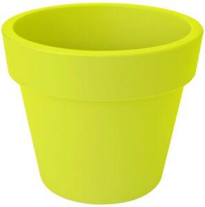 LARGE 40cm Round Barrel Planter Plastic Plant Pot Green 24 Litre Double Walled