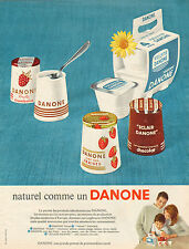 Publicité 1966  DANONE yaourt yoghourt dessert