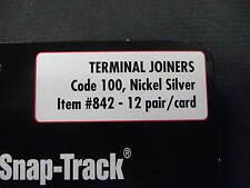 Atlas HO-scale Code 100 Nickel Silver Terminal Rail Joiners (2/pack) #842