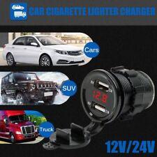 12/24V Dual USB Car Cigarette charger Lighter LED display universal Adapter