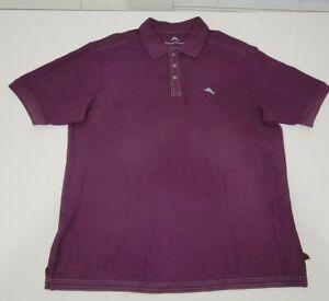 Tommy Bahama Supima Marlin Men's Short Sleeve Polo Shirt Size L Purple