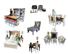 MiniMolly Dollhouse 1:6 Barbie Size BUNDLE Kitchen Dining Bed Lounge Chair Desk
