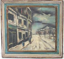 LISTED, STREET SCENE BY MAURICE UTRILO  French, 1883-1955 OIL PAINTING