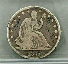1875 U.S. 50c Liberty Seated Half Dollar - CIRCULATED - Silver