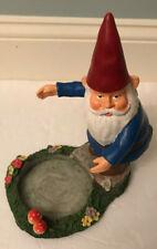 Yankee Candle Gnome Jar Candle Holder Garden Mushrooms Flowers Fairy Garden