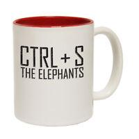 Funny Mugs - CTRL + S The Elephants - Animals Joke Humour Christmas NOVELTY MUG