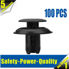 100x 8mm Hole Retainer Rivet Fastener Bumper Push Type Clips for Honda Accord