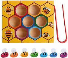 Toddler Matching Game Fine Motor Skill Toy, Wooden colour Sorting game x 10