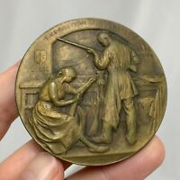 Belgium 1905 Liege International Exposition Bronze Devreese Medal - 81292
