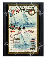 Historic Yachting World & Greenlees Brothers Whiskies, 1894 Advertising Postcard