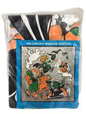 New 1986 Emson dead Stock Vintage Halloween Ghost Monster Shower Curtain Horror