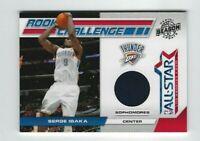 2010-11 Panini Season Update Serge Ibaka Jersey RC, Rookie SP #/799, Thunder!