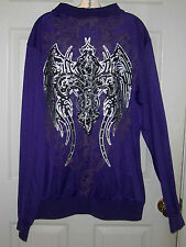 NEW ~  FLEUR DE LIS AND WINGS JACKET ~ NEW ~ SIZE 2XL