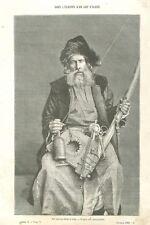 Artisanat Artisan Juif d'Algérie filant la laine Afrique du Nord GRAVURE 1888