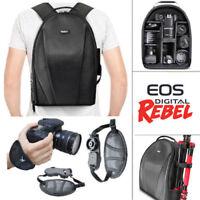 VIVITAR CAMERA BACKPACK BAG + STABILIZING GRIP FOR CANON EOS REBEL T5 T6 T3 5D