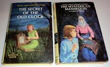VINTAGE! (2) NANCY DREW Series by CAROLYN KEENE: #1 (1959) & #47 (1970) HC