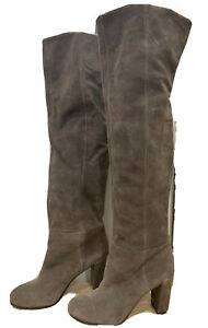 Nine West Size 7 Brown Suede Over The Knee Boots Like New