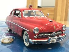 Franklin/danbury mint 1:24 1949 Mercury club Fire Chief Classic vintage model