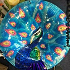 Peacock Glass Birdbath Fountasia Hanging £12.49