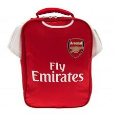 Arsenal Fc Kit Lunch Bag Red & White Football Shirt Shaped Packed Box School New