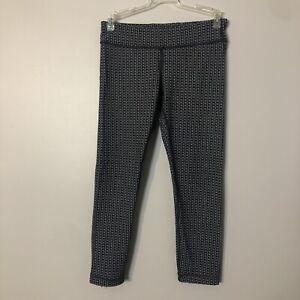 Ivivva Cropped Leggings Gray Print Size 14