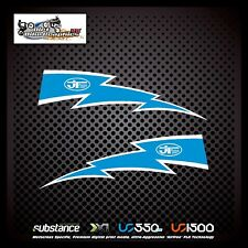 Suzuki RM 125 89-92 Lightning Rad Light Blue Decal Sticker Evo MX (785)