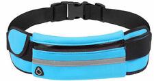 1 PC Sport Waist Bum Bag Outdoor Wonmens Mens Running Jogging Belt Blue USA
