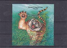 TANZANIE 1994 PANTHERA TIGRIS BLOC OBLITERE YT 247