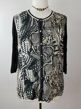 Samoon Gerry Weber Edles leichtes Damen Shirt Jacke transparent Strass - 46 XL