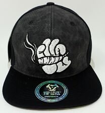 Marijuana Snapback Cap Hat Cartoon Hand Kush 420 Weed Blunt Black OSFM NWT