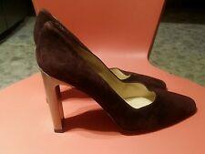monique brown suede made in spain pumpssize 10m 3 inch heels
