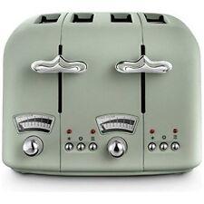 De'Longhi ARGENTO Flora 4 Slice Toaster - Green