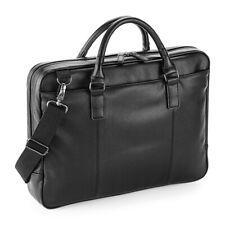Quadra NuHide Slimline Laptop Brief Bag Faux Leather Briefcase Business (QD892)