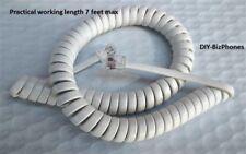 Barely Off White/Light Ivory/Cream Short (9 Ft) Generic Handset Cord Phone Coil