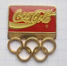 COCA-COLA / OLYMPISCHE SPIELE / RINGE ......... Sport Pin (114h)