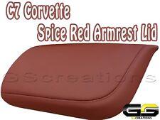 C7 Stingray Z06 Grand Sport Corvette Spice Red Armrest Lid Leather