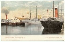 Early Outer Docks Victoria British Columbia Canada Ship postcards