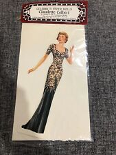 Shackman Celebrity Paper Dolls Claudette Colbert Vintage New In Sealed Package