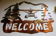 Airplane Welcome Large Size Metal Wall Art Decor by HGMW