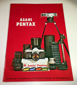 Product booklet for Asahi Pentax 'Complete System Of Photography', early-1970s