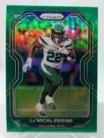 La'Mical Perine ROOKIE - 2020 Panini Prizm Green Prizm Card #357 New York Jets